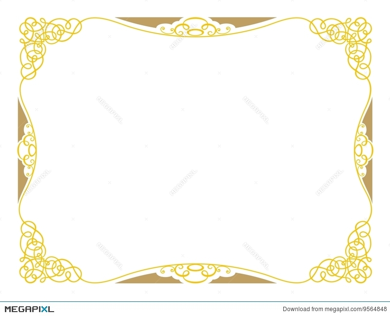 Certificate Design A3 Ornamental Illustration 9564848 - Megapixl