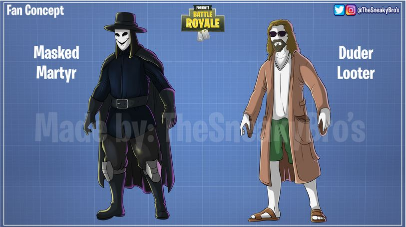 V Wie Vendetta Fortnite-fans Erstellen Skins Von The Big Lebowski & V For