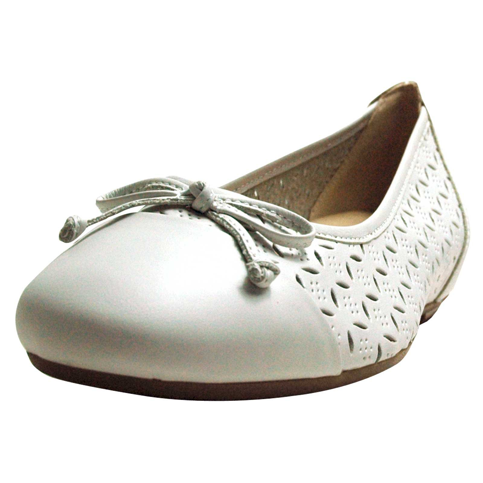 Ballerinas Damen Details About Caprice Closed Damen Ballerinas White Nappa Leather Width G