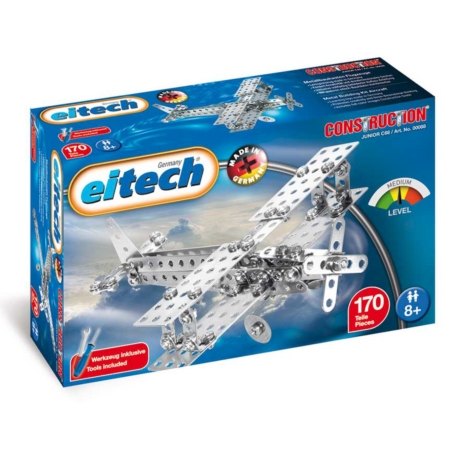 Eitech Medal Building Set Double Decker Propeller Plane Construction 170 Tlg Ebay
