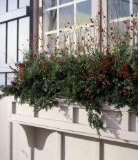Holiday Welcome Window Box