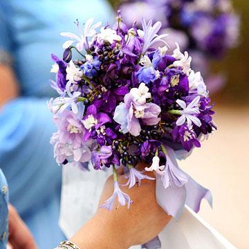 Purple  Blue Wedding Bouquets
