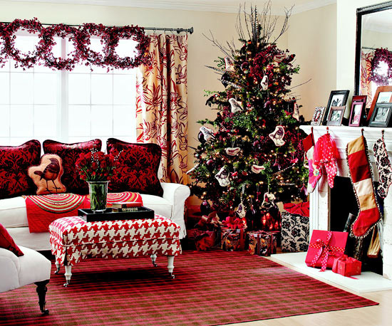 Fresh Holiday Decorating Theme Woodland Red - christmas room decorations