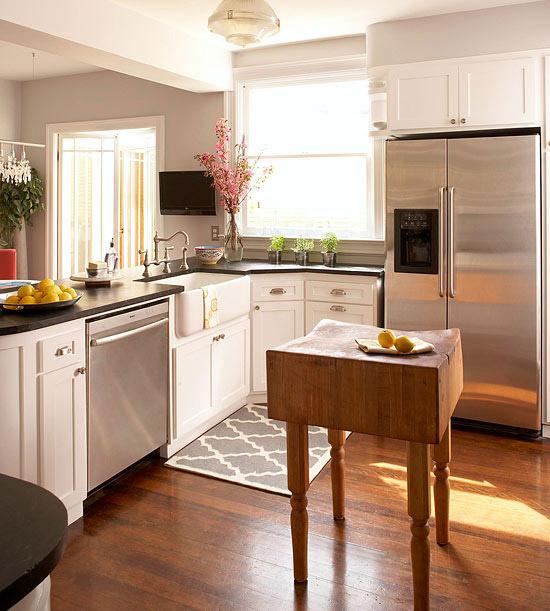 Small-Space Kitchen Island Ideas - Bhg - small kitchen ideas with island