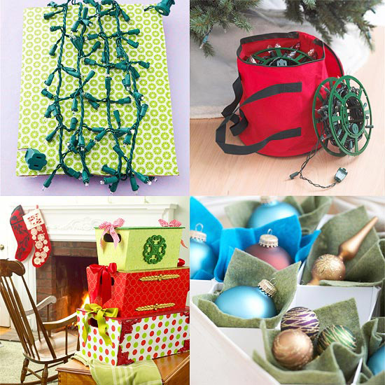 Our Best Holiday Storage Solutions from Better Homes and Gardens - how to store christmas decorations