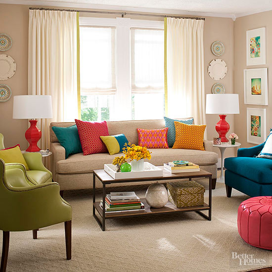 Living Room Decorating - Better Homes and Gardens - BHG - redecorating living room