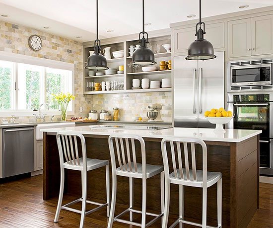 Bright approach to kitchen lighting