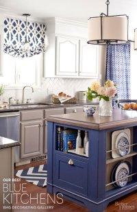 Blue And White Kitchen - Home Design