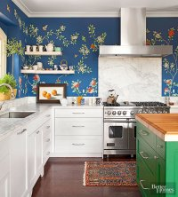 20 Creative Ways to Use Wallpaper in the Kitchen