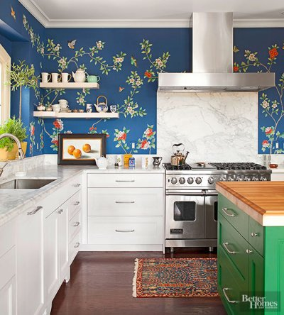 20 Creative Ways to Use Wallpaper in the Kitchen