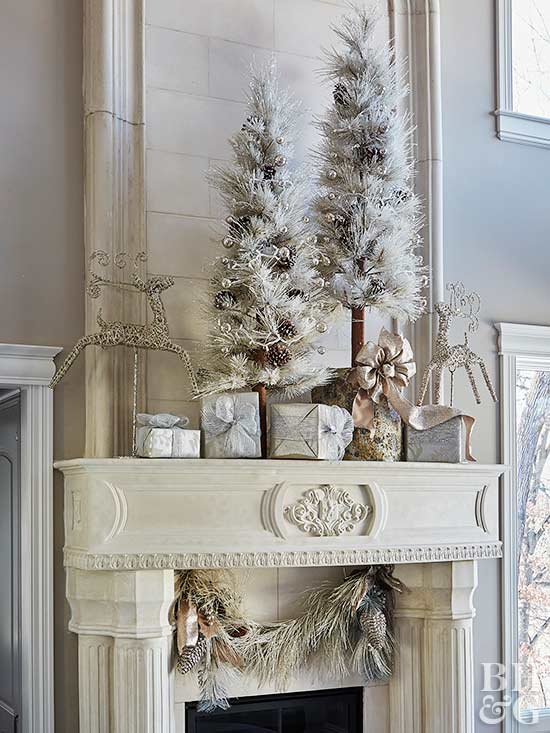Decorate Your Mantel for Christmas - christmas decorations for mantels
