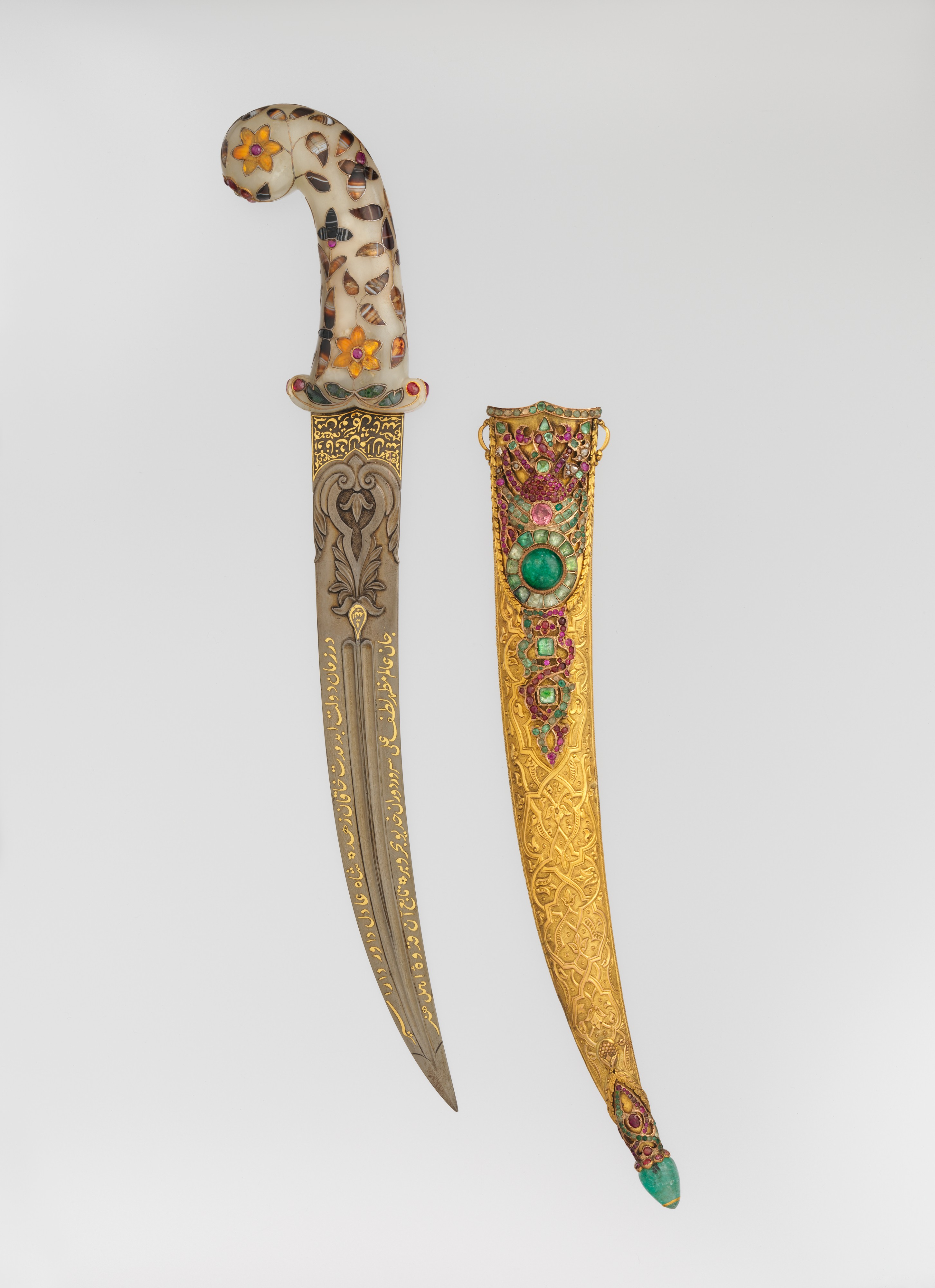 Tray Dagger With Scabbard | Blade And Scabbard, Turkish; Hilt
