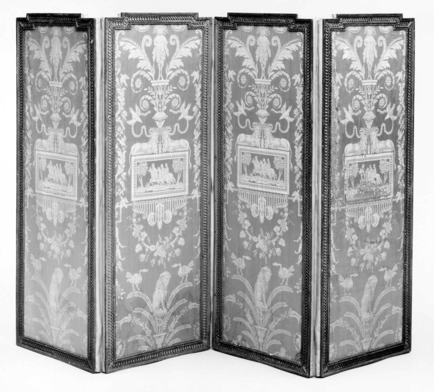Paravent Original Four Leaf Folding Screen Paravent French The Met