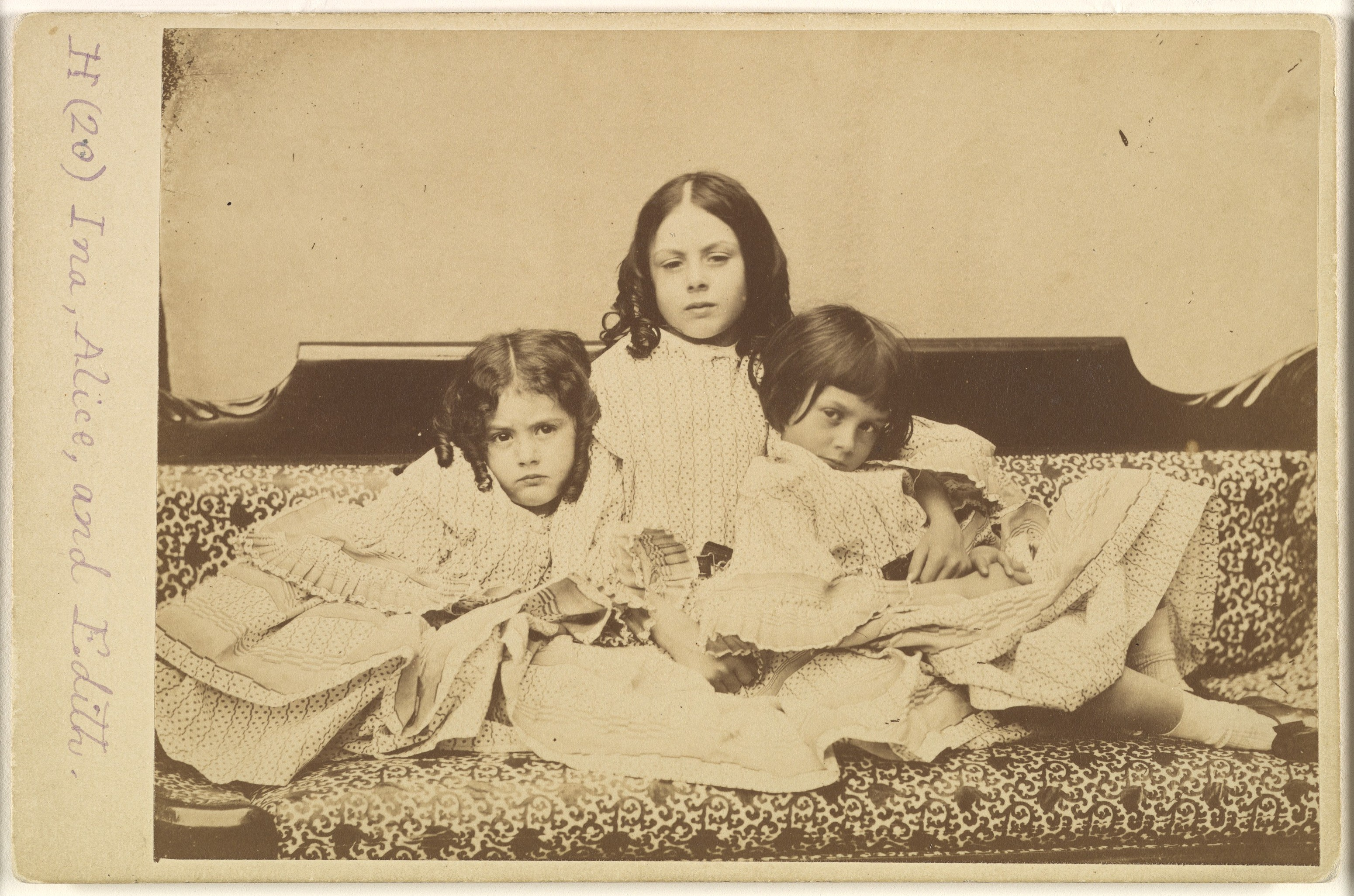 Sofa Travel Lewis Carroll | Edith, Ina And Alice Liddell On A Sofa