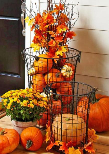Fall Flowers And Pumpkins Wallpaper Our 10 Most Pinned Fall Decorating Ideas Midwest Living