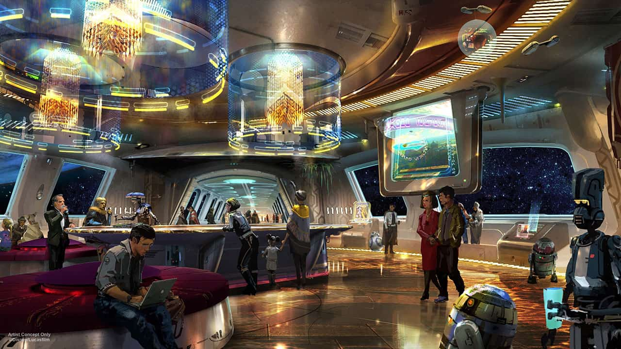 Hotel Lobby New Star Wars Inspired Hotel Announced At Disney World Milesgeek