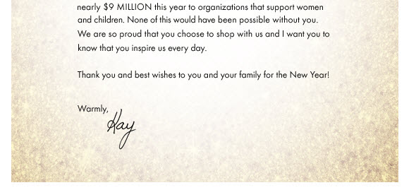 Ann Taylor A Note From Our CEO, Kay Krill Milled