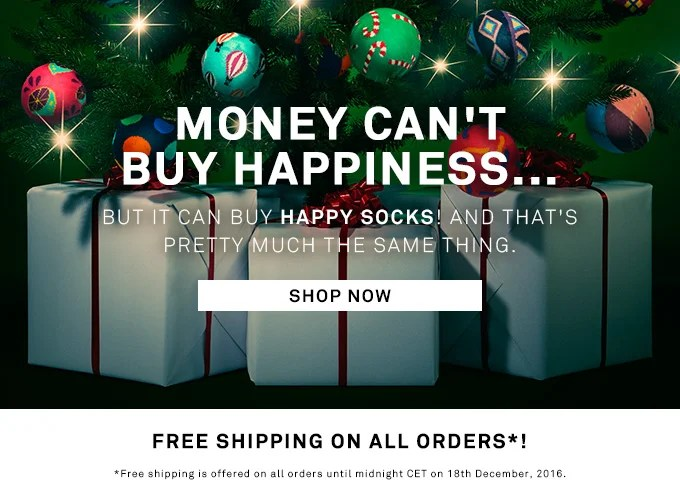 Happy Socks  Happy Holidays - Free shipping on all orders! Milled