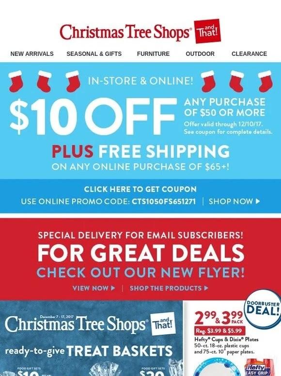 Christmas Tree Shops It\u0027s HereOur New Flyer + A Holiday Savings