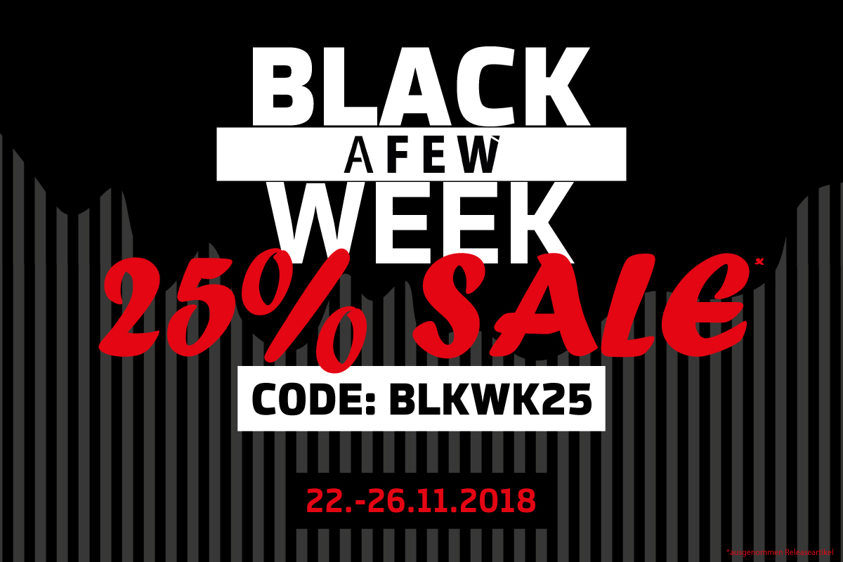 Black Week Sale Afew Sneaker Store Black Week Sale Reminder 25 Off On