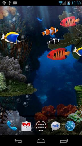 Aquarium live wallpaper for Android. Aquarium free download for tablet and phone.
