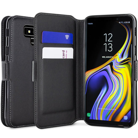 Samsung Galaxy Note 9 Genuine Leather Wallet Case Olixar