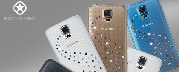 Bling My Thing Milky Way Collection Galaxy S5 Case - Angel Mix