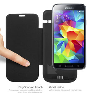 Anymode Samsung Galaxy S5 Power Cover - Black