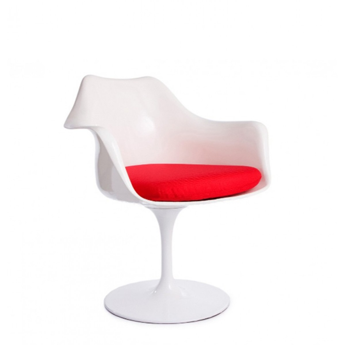 Tulip Chair Reproduction Eero Saarinen Style Tulip Arm Chair White Replica