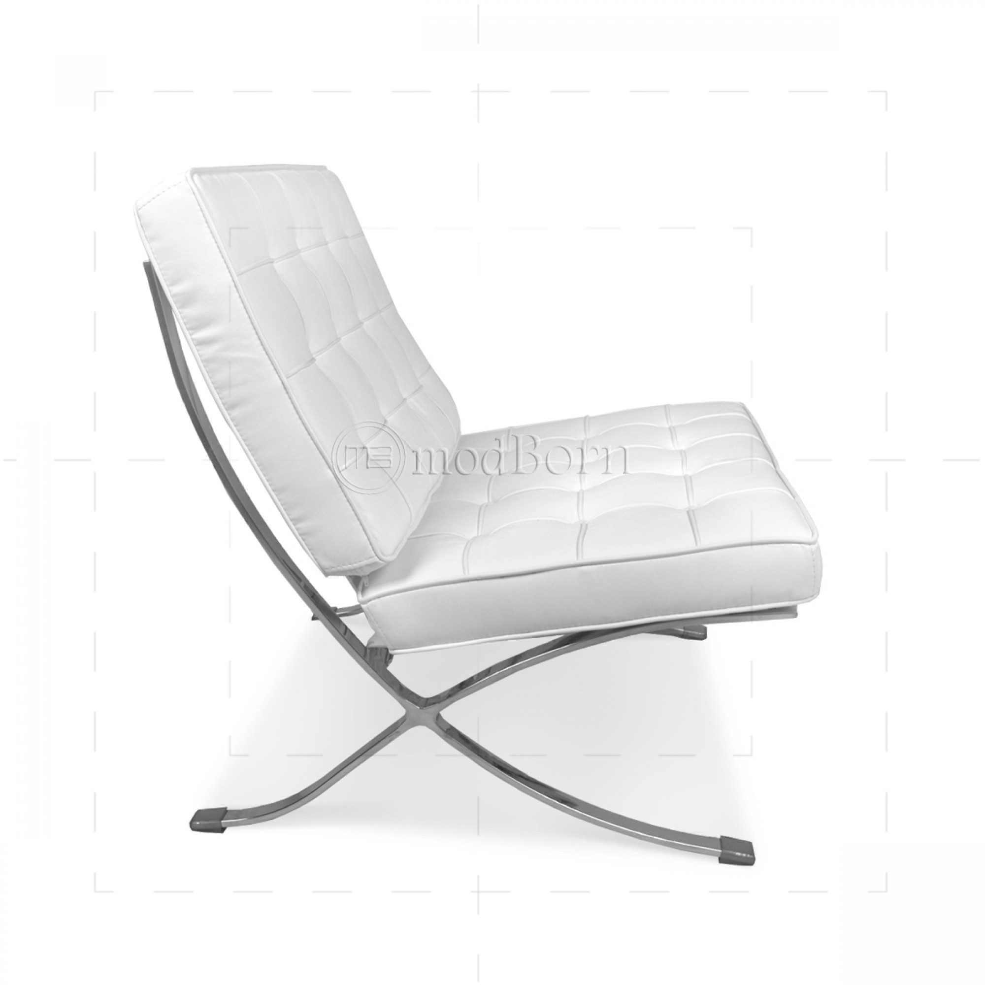 Mies Van Der Rohe Sessel Ludwig Mies Van Der Rohe Barcelona Style Chair White Leather