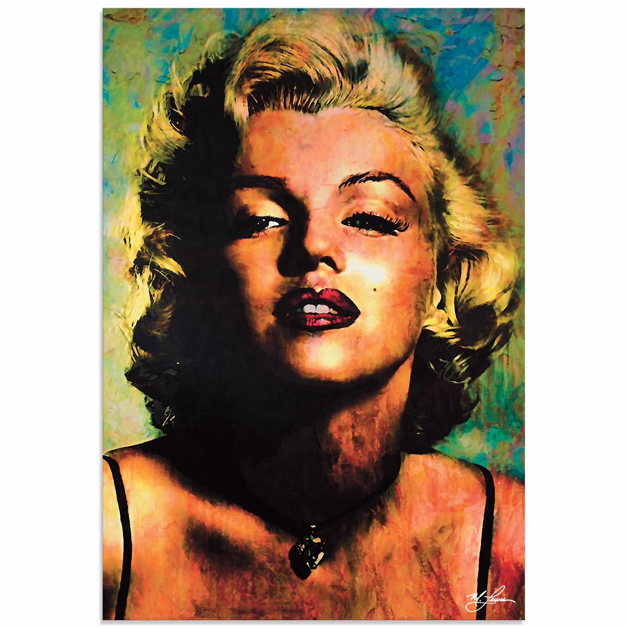 Art Marilyn Marilyn Monroe Insatiable Pop Art Painting By Mark Lewis Signed Numbered Limited Edition