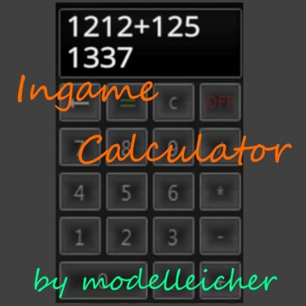 FS 15 Ingame Calculator v 11 Scripts Mod für Farming Simulator 15