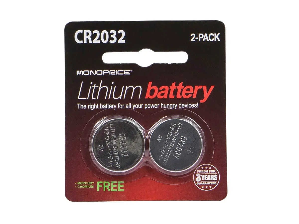 Cr2032 Lithium Battery Monoprice Cr2032 3v Lithium Battery 2 Pack Monoprice