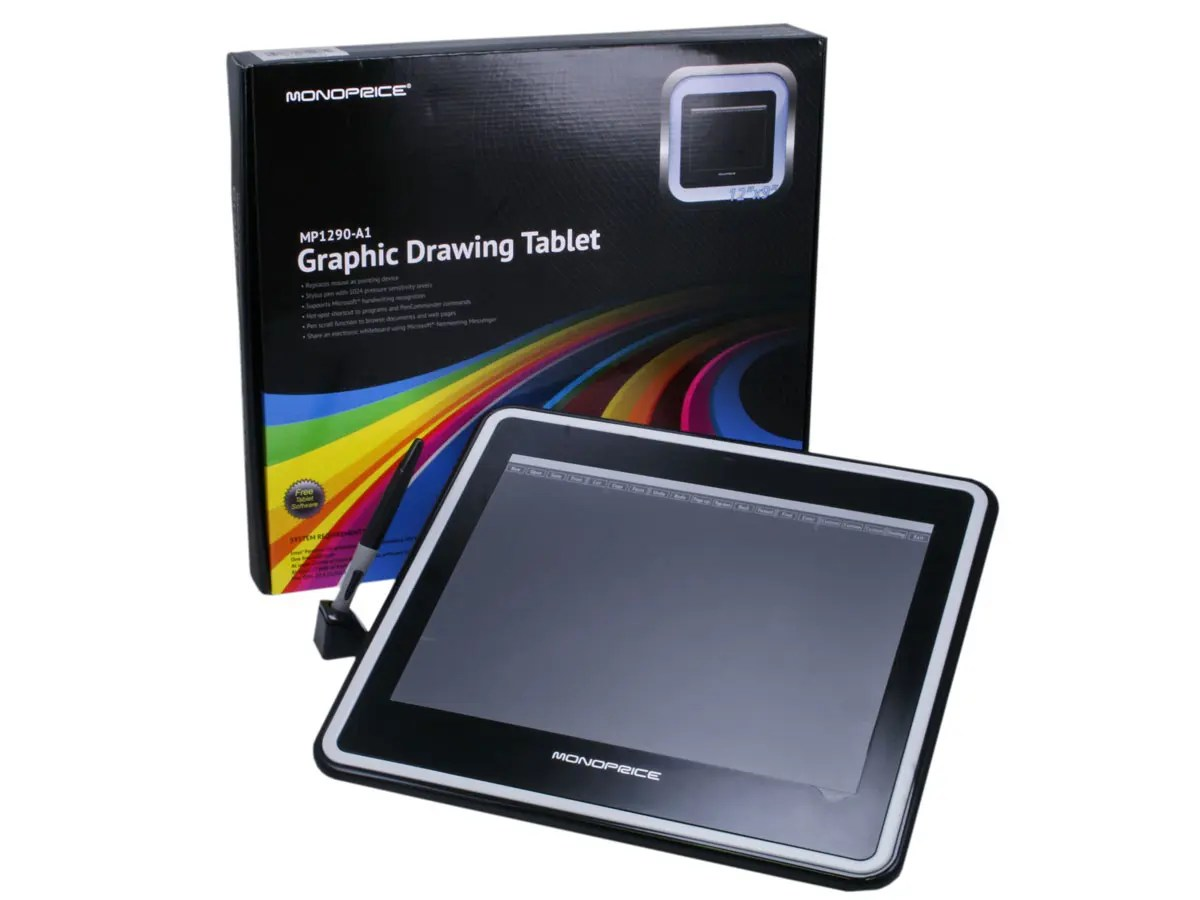 Design Tablett Monoprice 12x9in Graphic Drawing Tablet With 4000lpi