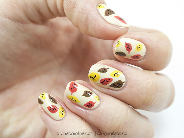 Fabulous Fall Nails Adorable Abstract Leaf Design more