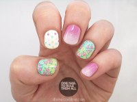Ombre Nail Art Tutorial: Florals and Dots and Gradients ...