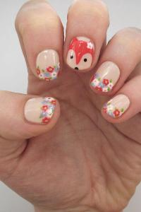 Fantastic Floral Fox Nail Design | more.com