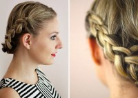 Easy Crown Braid For Short Hair