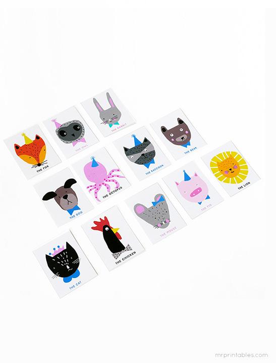 Animal Charades Game - Mr Printables