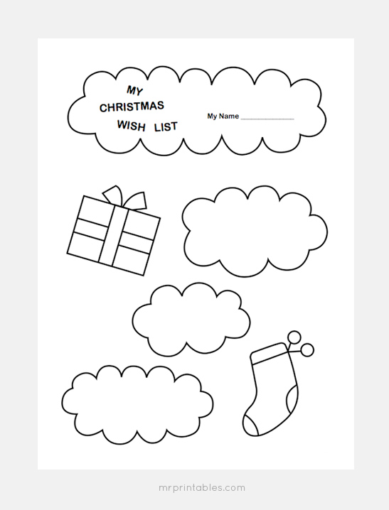 Christmas Wish List Templates - Mr Printables - Kids Christmas List Template