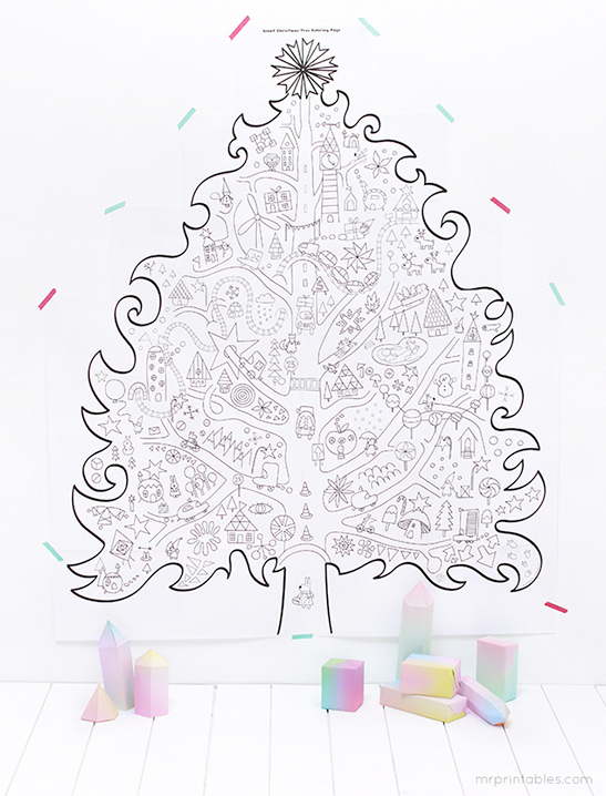 Printable Christmas Coloring Pages - Mr Printables
