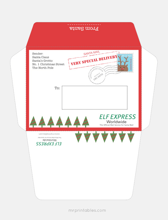 Letter from Santa - Mr Printables - Santa Envelopes