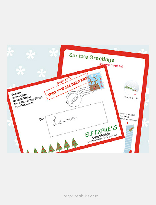Letter from Santa - Mr Printables