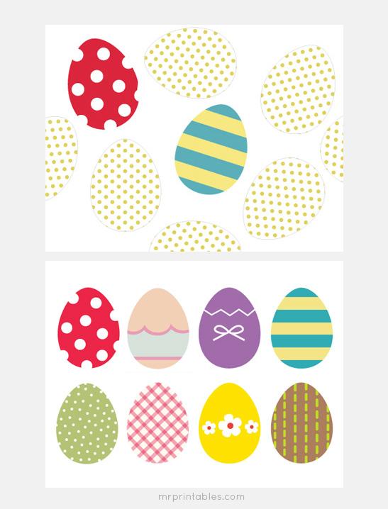 Easter Eggs Memory Game - Mr Printables