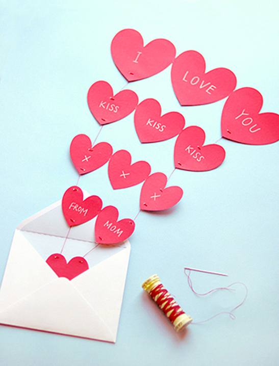 Fountain of Hearts Valentine Card - Mr Printables