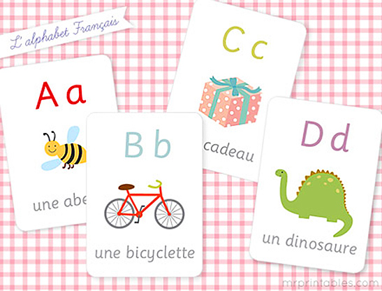 French Alphabet Flash Cards - Mr Printables