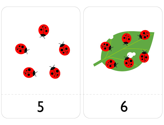 Number Flash Cards 1 to 10 - Mr Printables