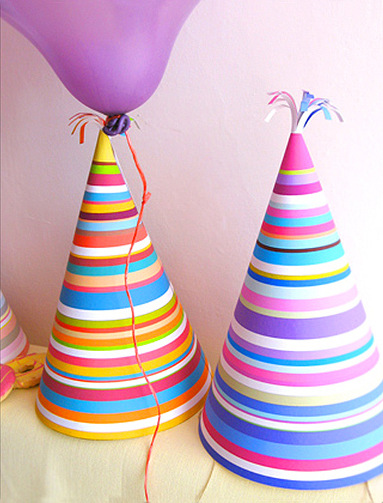 Stripy Party Hats - Mr Printables