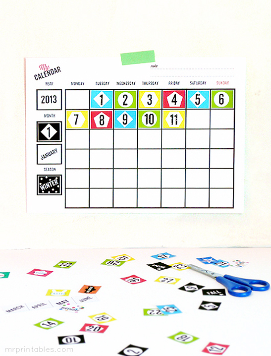 My Day Blank Calendars - Mr Printables - printable blank calendar