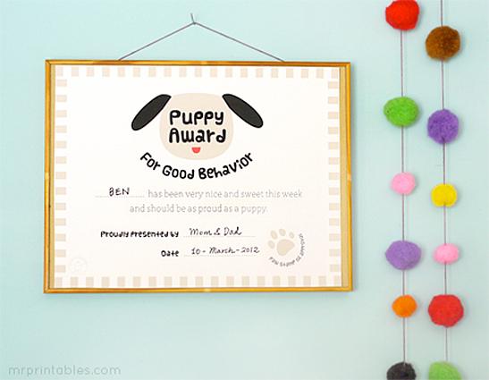 awards for good behavior mr printables free printable certificates for kids